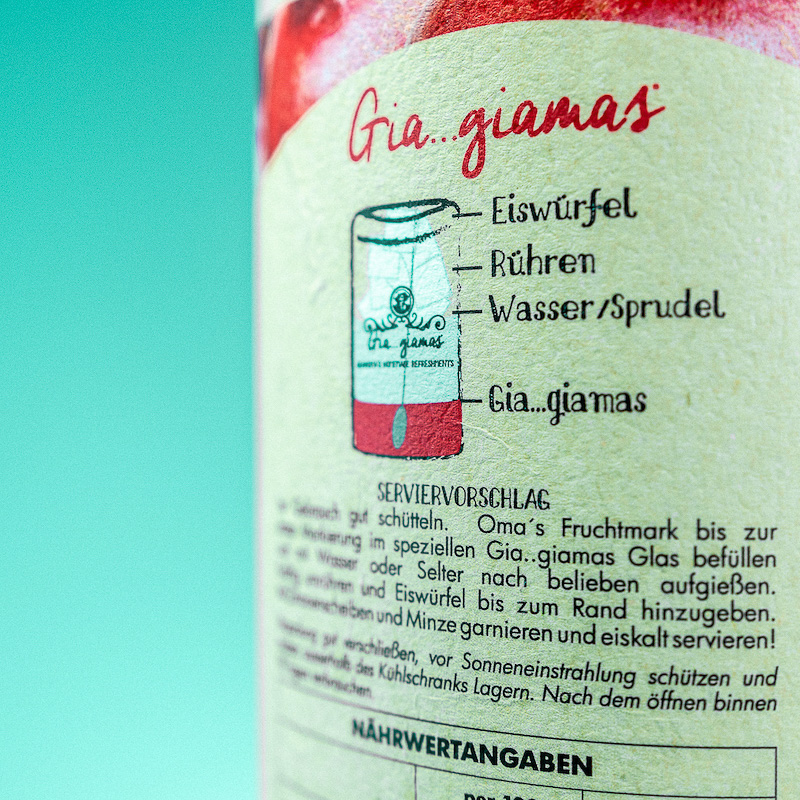 Gia...Giamas Apfel Granatapfel Fl. 1300gr.