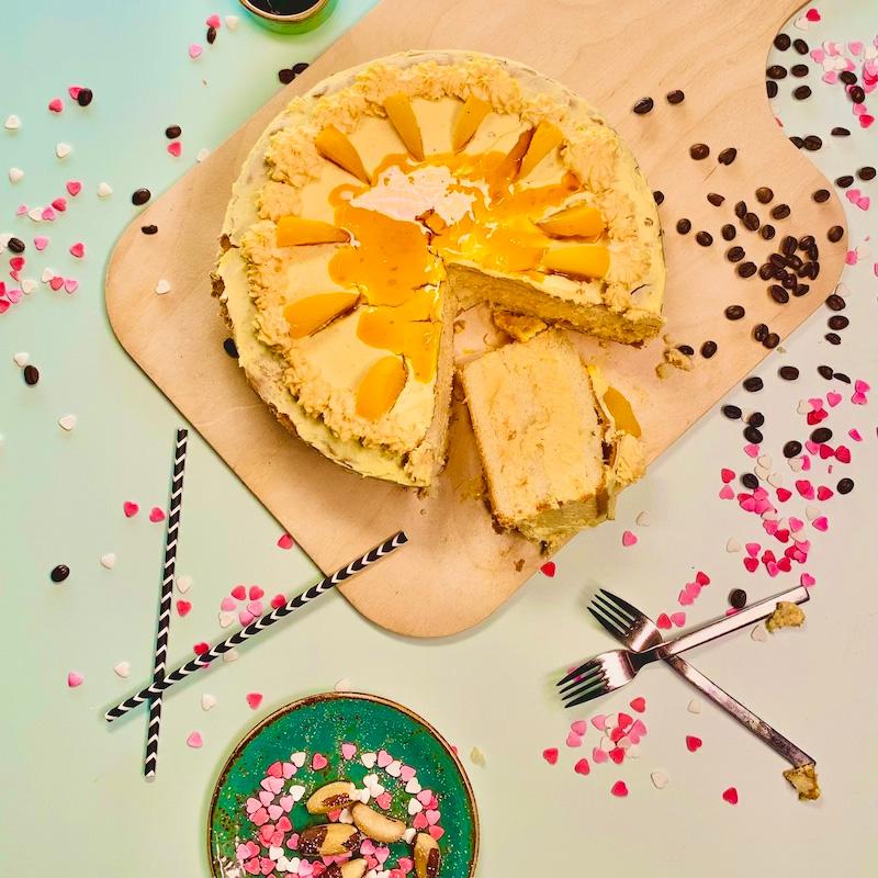 Pfirsich Frischkäsecreme Torte