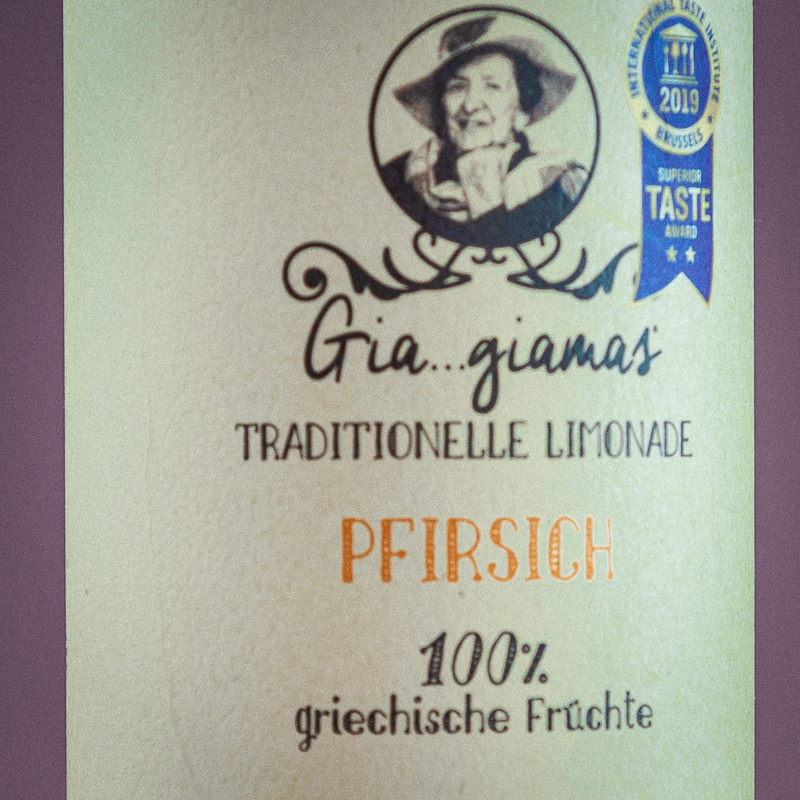 Gia...Giamas Pfirsich Fl. 600gr.